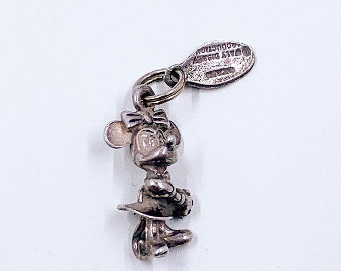 Vintage Silver Minnie Mouse Charm | Disneyland Charm | Walt Disney Productions