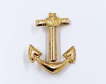 Vintage Blackinton Anchor Brooch   Nautical Anchor Brooch