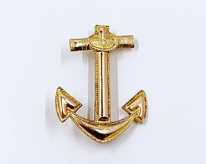 Vintage Blackinton Anchor Brooch | Nautical Anchor Brooch