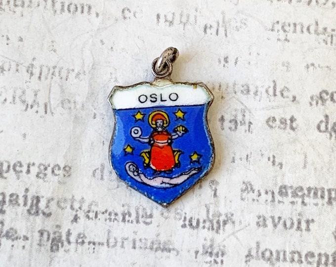 Vintage Silver Enamel Oslo Charm