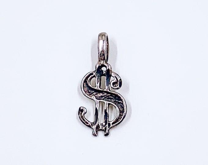 Vintage Silver Dollar Charm | Silver Money Charm | Dollar Symbol Charm | Dollar Sign