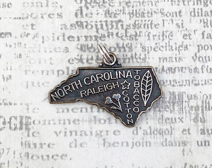 Vintage North Carolina State Charm | Raleigh Charm