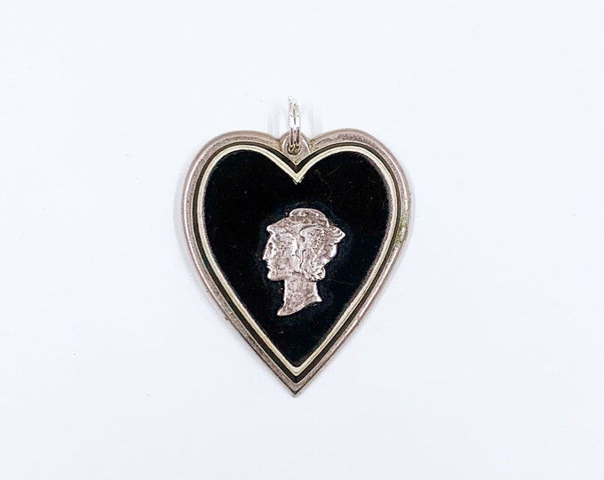 Vintage Mercury Dime Coin Sweetheart Pendant | WWII Sweetheart Pendant | Love Token Trench Art Pendant