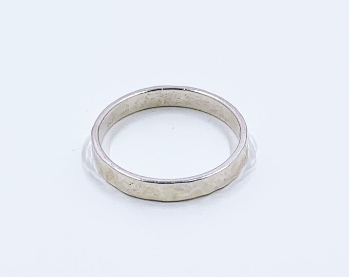 Vintage Silver Hammered Band | Sterling LIZ RON Ring