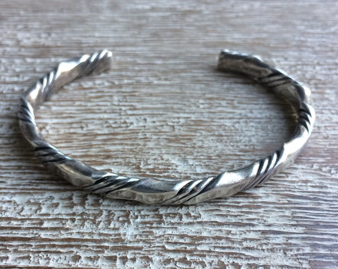 Vintage Tahe Sterling Silver Cuff Bracelet | Twisted Cuff