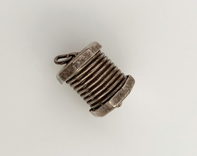 Vintage Silver Accordion Charm | Silver Concertina Charm