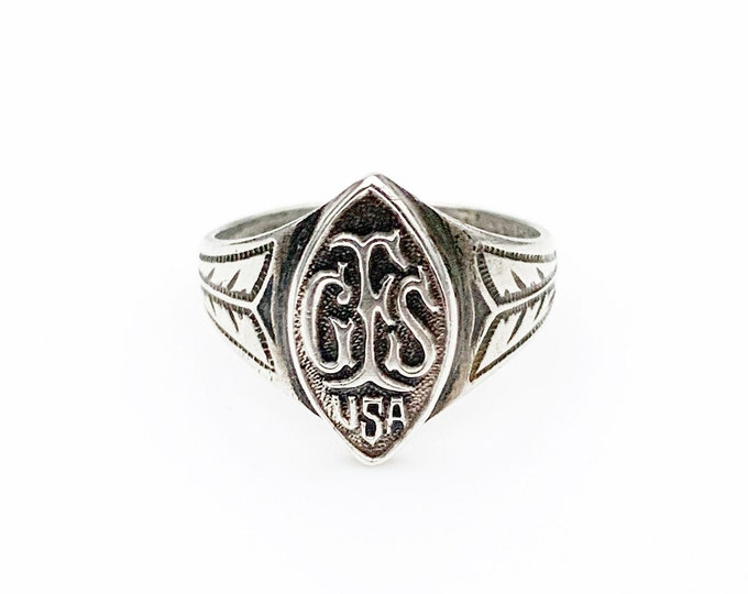 Sterling Silver GFS USA Signet Ring | US Size 6 Ring | Girls' Friendly Society