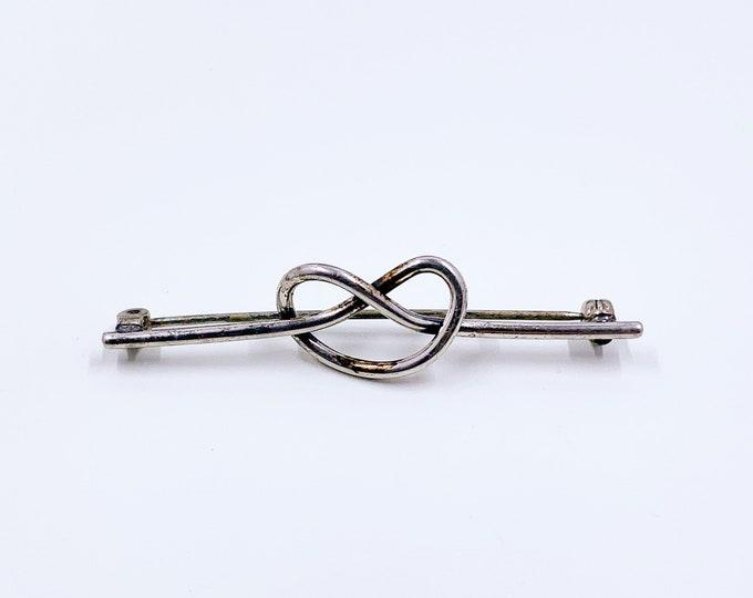 Vintage Silver Love Knot Brooch | Beau Sterling Knot Brooch