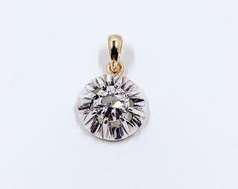 Antique Georgian Solitaire Diamond Pendant   Conversion   Antique Rose Cut Diamond Pendant