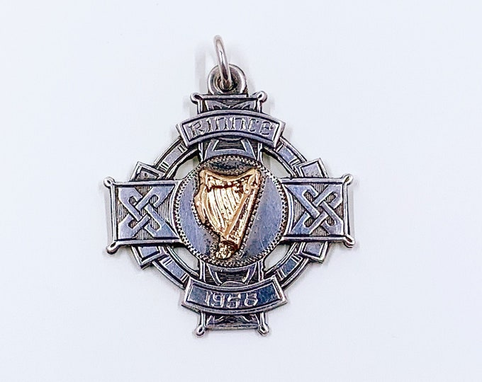 Vintage Silver Rinnce Dance Fob Medal | Irish Silver Feis Medal Fob 1958 | Dublin Silver Fob Medal