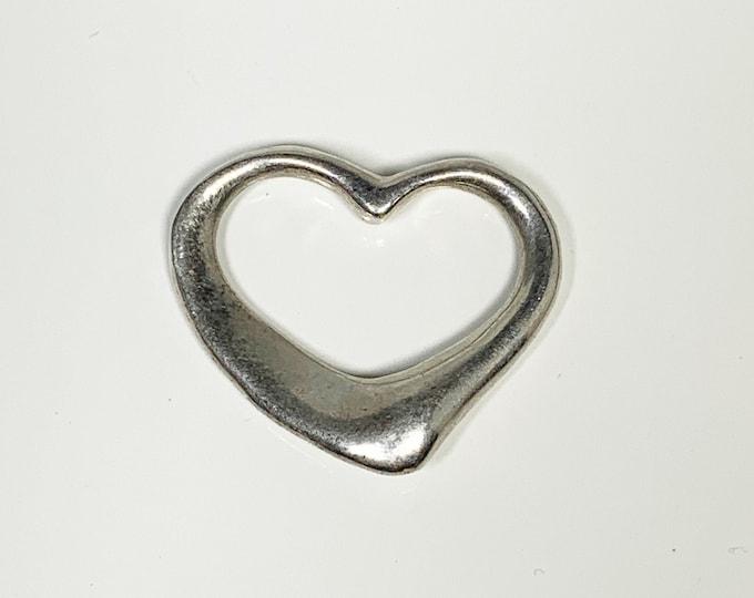 Vintage Silver Open Heart Pendant
