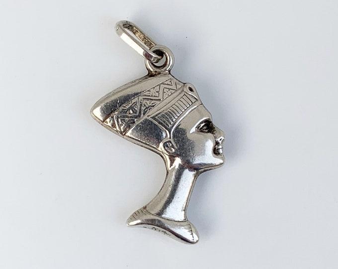 Silver Nefertiti Charm | Egyptian Queen Nefertiti Charm Pendant