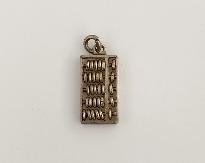 Vintage Silver Abacus Charm