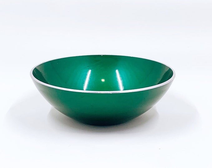 Vintage Green Emalox of Norway Bowl | Mid Century Modern Small Bowl