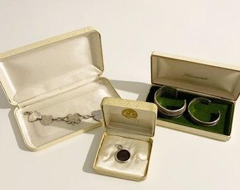 Vintage Jewelry Box Lot   Krementz Box and C.C.   Three Jewelry Display Boxes