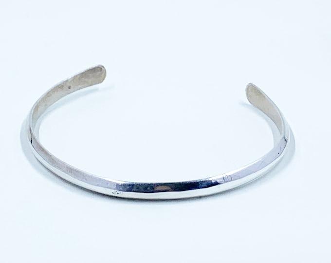 Vintage Silver Cuff Bracelet | Sterling Silver Cuff | Stacking Bracelet