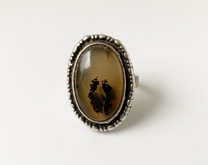 Vintage Montana Agate Ring | US Size 6 1/2 Ring