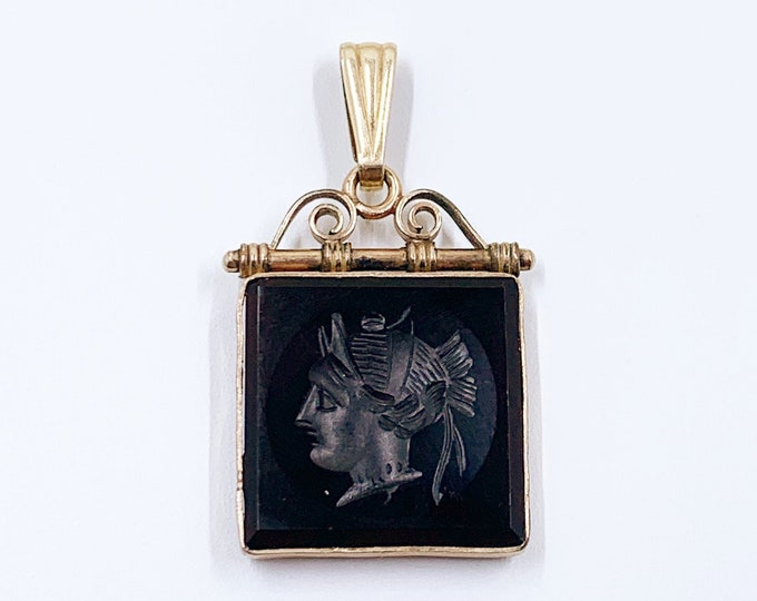 Victorian Gold Filled Carnelian Intaglio Pendant