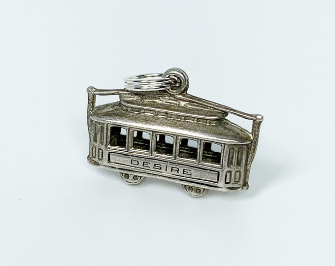 Vintage Silver Street Car Named Desire Charm