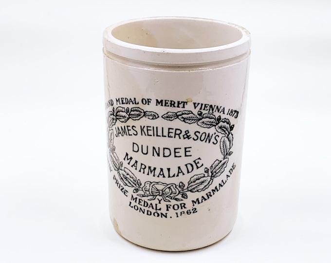 Antique James Keiller & Son Dundee Marmalade Jar | Made in England Crock Pot