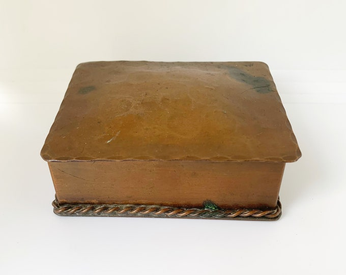 Vintage Copper Trinket Box | Smith Craft Co Copper Box | Vermont 202 Small Copper Box