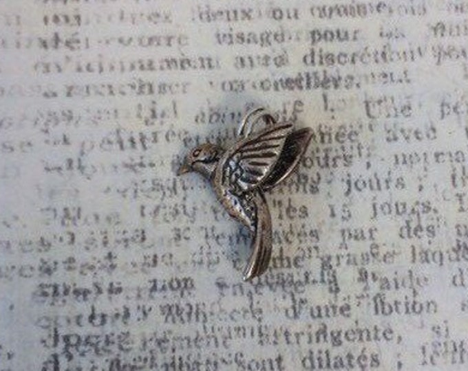 Silver Hummingbird Charm | Bird Charm
