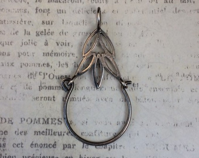 Vintage Silver Charm Holder Pendant | Charm Holder