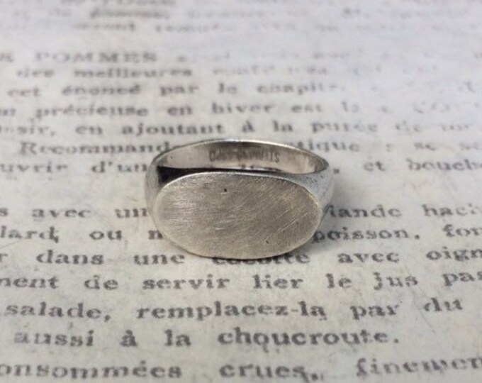 Vintage Sterling Silver Signet Ring | Sterling ESPO | Signet Ring