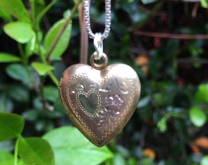 Vintage Heart Locket | Gold Filled | Sweet Heart Locket