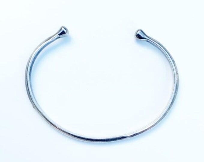 Vintage Silver Open Cuff Bracelet