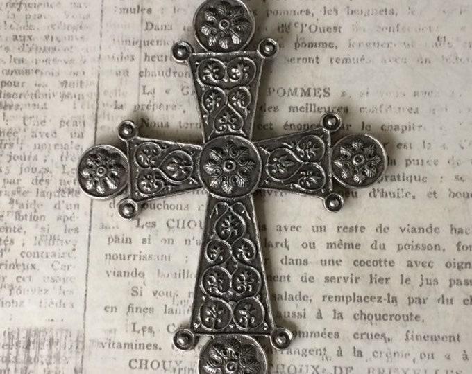 Vintage Sterling Silver Cross Pendant | MMA CMA Replica Cross | Museum Replica
