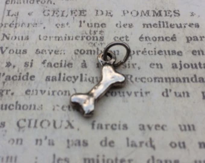 Vintage Silver Dog Bone Charm | Dog Jewelry