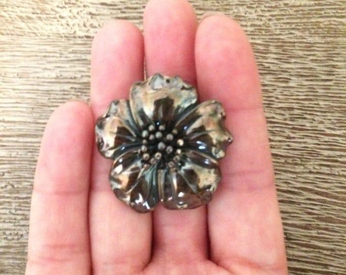 Vintage Silver Flower Pendant