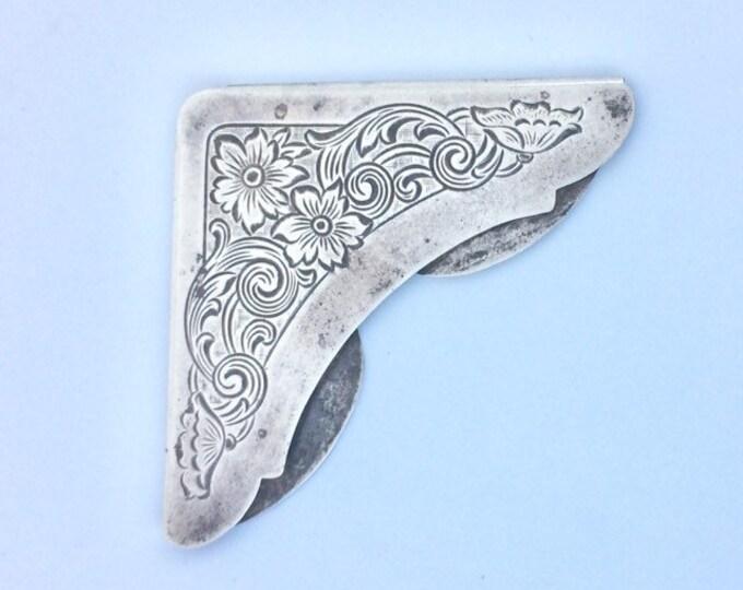 Vintage Gorham Sterling Bookmark |  Vintage Sterling Silver Corner Bookmark | Gorham Sterling # 70