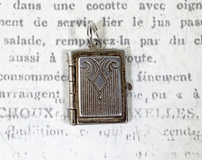 Vintage Sterling Photo Book Charm