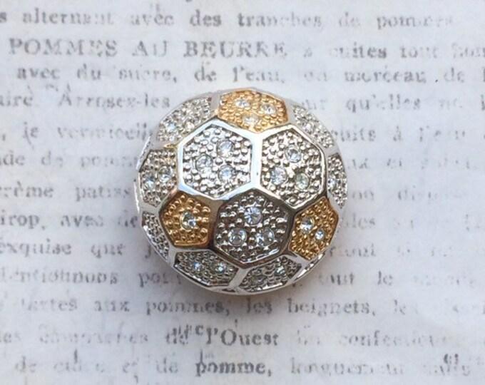 Vintage Roman Honey Comb Ball Brooch | ROMAN Signed Jewelry | Roman Company Brooch