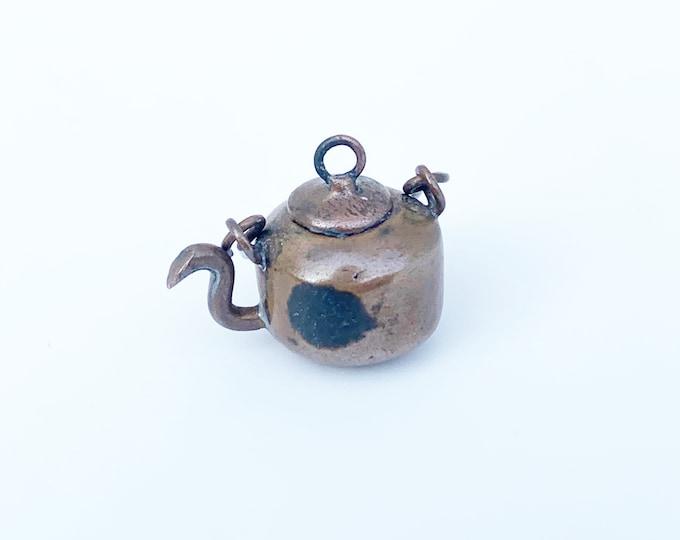 Vintage One Cent Tea Pot Charm   Exonumia   Wheat Penny Charm