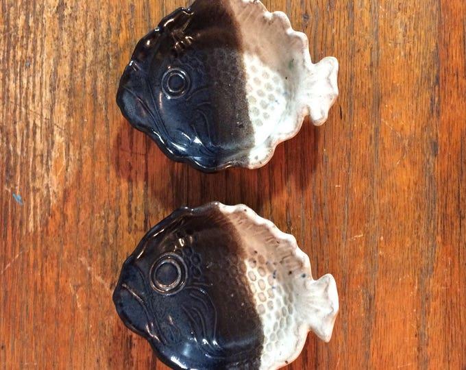 Vintage Terracotta Fish Ring Dish | Glazed Decor