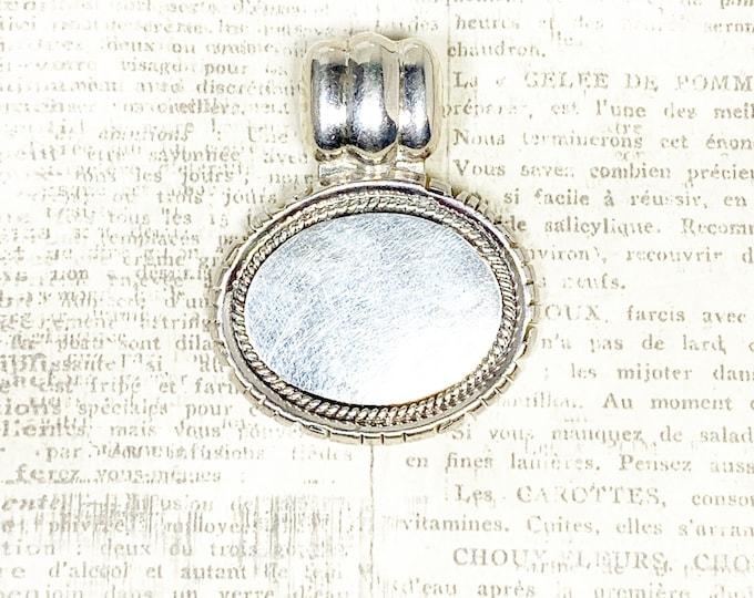 Vintage Silver Medallion Pendant