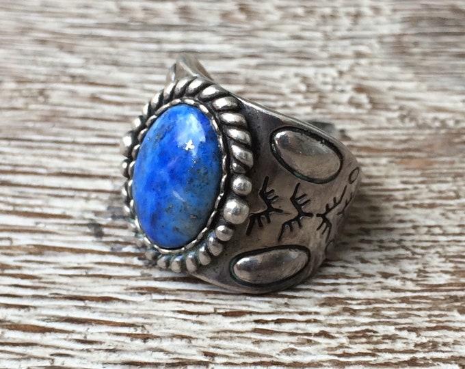 Vintage Relios Lapis Lazuli Ring | Carolyn Pollack | Size 8 Ring