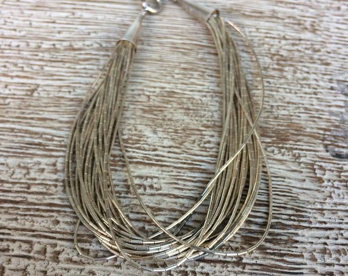 Vintage Liquid Silver Bracelet | 20 Strand Silver Bracelet
