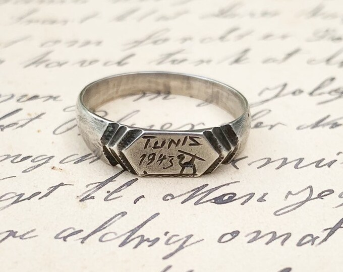 WWII Trench Art Ring | Tunis 1943 | Battle of Tunisia