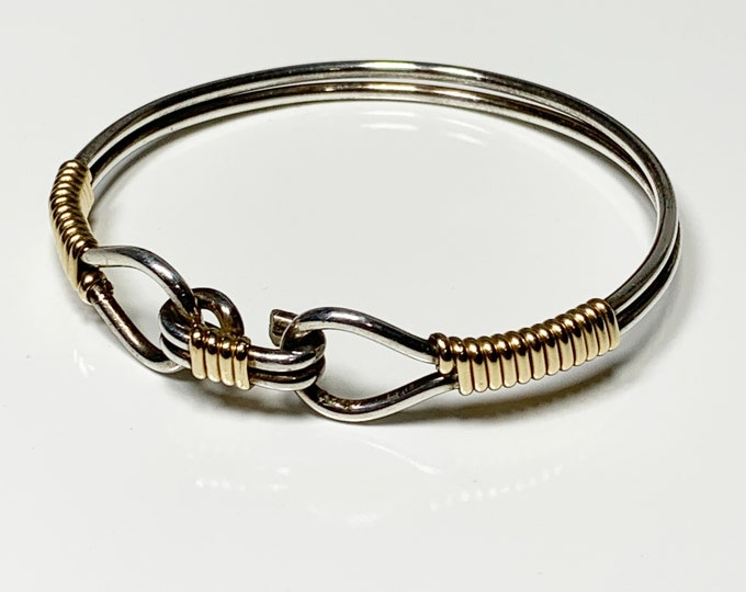 Silver and Gold Filled Knot Bracelet