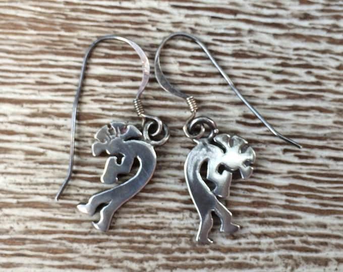 Silver Kokopelli Earrings | HOPI | Native American
