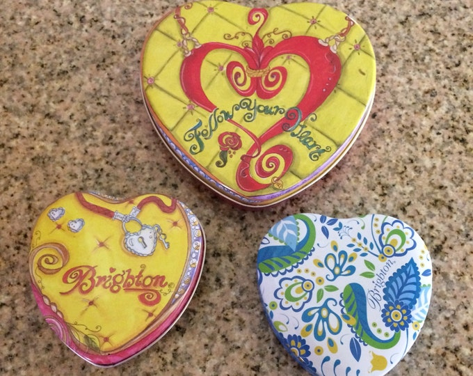 Brighton Jewelry Tin Lot | Brighton Heart Shaped Tins