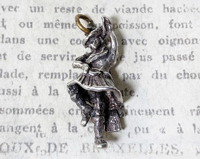 Vintage Silver Scottish Highland Dancer Charm