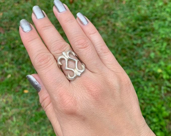 Vintage Silver Sandcast Ring | Southwest Jewelry | Size 7.5