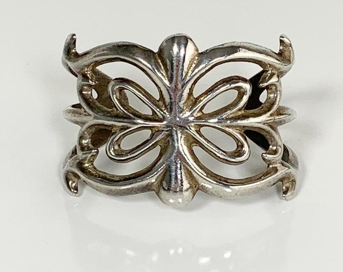 Vintage Silver Sandcast Cuff Bracelet | Southwest Silver Ingot Cast Cuff