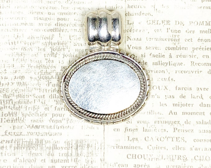 Vintage Silver Medallion Pendant | Large Signet Pendant