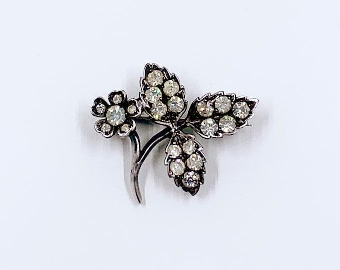 Antique French Silver Paste Flower Brooch | 800 Silver Flower Brooch
